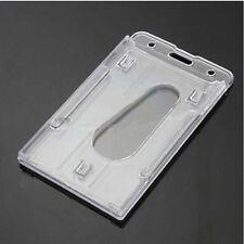 Tarjeta de identificación de plástico titular transparente badge ID cubierta