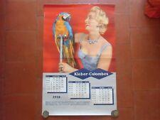 Calendar of Garage Decorglitter-Kleber -colombes 1958 Pneumatic