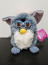 1999 Tiel Blue Furby Babies Baby Pink Hair with Hazel Eyes Working Very Rare NWT