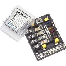 Blue Sea 7748 SafetyHub 150 Marine Fuse Block 10-Circuit Box ATO/ATC + MIDI/AMI