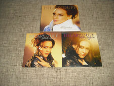 HILARY DUFF - DIGNITY + STRANGER + WITH LOVE - 4xCD/DVD PROMO   CHASING THE SUN