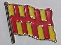 Northumberland England County Flag Enamel Pin Badge