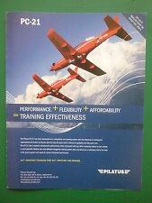 6/2009 PUB AVION PILATUS PC-21 TRAINER SWISS AIRCRAFT FLUGZEUG ORIGINAL AD