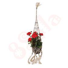 Dedicarmi al macramè con vasi di fiori pianta decorativa Hanger fatto a mano di fibra naturale Juta D10