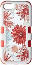 Asmyna Cell Phone Case for Apple iPhone SE - Ivory White Frame/ Spring Daisies