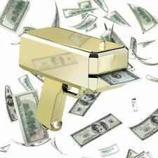 Cash Cannon Money Gun Launcher w/100pcs Fake $100 Bills Party Game Toys - Gold