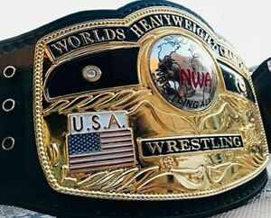 NWA Domed Globe World Heavyweight Championship Replica Title Belt Zinc 4mm