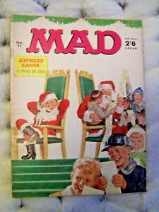 MAD MAGAZINE, # 71, HUMOUR, 1967, EXPRESS SANTA, NORMAN MINGO, UK, RARE, VINTAGE