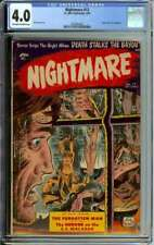NIGHTMARE #12 CGC 4.0 OW/WH PAGES // EDGAR ALLAN POE ADAPTATION 1954