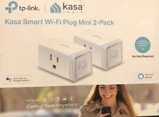 2 Pack Kasa Smart WiFi Plug Mini No Hub Required Works with Google, Alexa HS105
