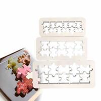 3Pcs Puzzle Fondant Cookie Cutter Cake Mold Fondant Decorating Tools S6W0