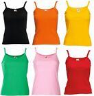 Débardeur Pour Femmes Coton Sans Manche Bretelle Uni T Shirt Gilet Haut NEUF