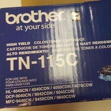 Brother TN-115C Cyan High Yield Toner Cartridge BRAND NEW Original Box