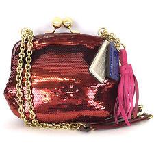 NWT Coach Poppy Small Crimson Sequin Evening Handbag: Style #21218