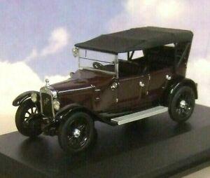 OXFORD D/CAST 1/43 1934 AUSTIN HEAVY TWELVE 12/4 MAROON/BLACK RAISED HOOD AHT002