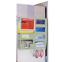 """All-Inclusive Antimicrobial Isolation Station 22.125""""W x 4.25""""D x 22""""H 1 ea"""