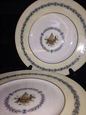 "Vintage Set Of 7 Wedgwood Appledore Fine Porcelain 9""  Plate Made in England"