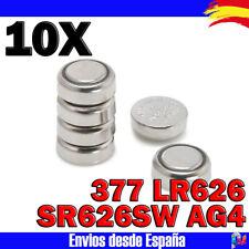10x Pilas Alcalinas de boton SR626SW AG4 377 LR626