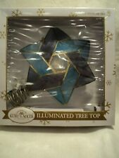 "Ksa ""10-light 'Star of David' Capiz multi-colored treetop"" ~ Mip ~ New ~ Pretty!"