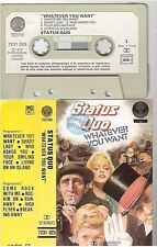 STATUS QUO cassette K7 tape WHATEVER YOU WANT france french 7231 025 paper label