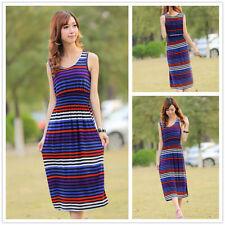 Regular Size Jersey Dresses Stripes