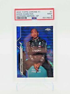 2020 Topps Chrome Sapphire Edition F1 Lewis Hamilton #1 SP Variation MINT PSA 9