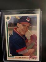 1991 Upper Deck Jim Thome #17F Baseball Card Rookie Card Phillies Indians