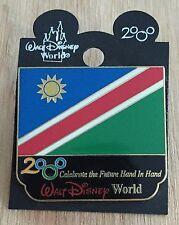 Millennium Village WDW Flag Pin Namibia Pavilion 2000 Disney Pin NEW ON CARD
