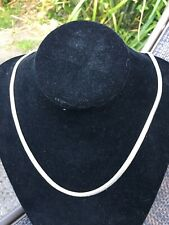 SILVER HERRINGBONE SNAKE CHAIN NECKLACE