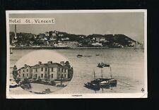Devon TORQUAY Hotel St Vincent Used 1937 RP PPC KE8 stamp