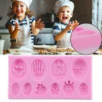 Silicone Mold Fondant 3D Halloween Skeleton Skull Cake Mould Baking Supply