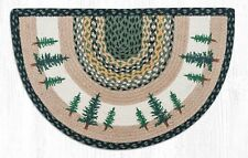 Tall Timbers Print Braided Rug Slice by Earth Rugs