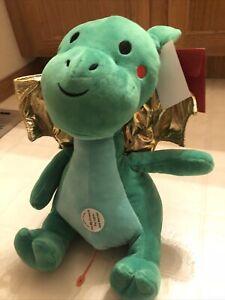 "FAO Schwarz 17"" Dragon Plush Stuffed Animal Toy with LED Lights and Sound"