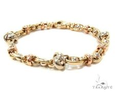 Ladies Women Gold Bracelet 7inches 9mm Link Jewelry 14k Two Tone 13.00 grams