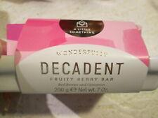 Pink Decadent Fruity Red Berry Fizz Bar Soap & Ceramic Dish 7 Oz Home Bath Spa