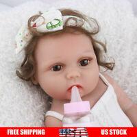 "18"" Reborn Baby Girl Dolls Silicone Handmade Realistic Full Body Newborn Doll"