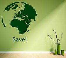 Vinyl Decal Wall Sticker Quote World Earth Greenpeace Living Room Decor (z1123)