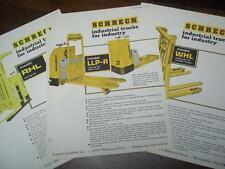 Shreck Industrial Truck Brochure Inserts~WHL/LLP-R/RHL~Specifications