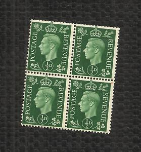 GREAT BRITAIN - 1941 - GEORGE VI - SCOTT 258 - FULL BLOCK - MNH - REAR PENCILING