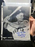 Bob Bobby Doerr HOF 86 Boston Red Sox Signed Auto 8x10 Photo