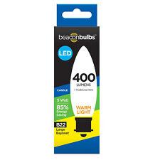 LED 5W 40W Equivalent Candle Traditional Light Bulb Lamp Warm White B22 Bayonet