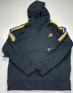 RARE Nike NBA LA Lakers Player Issue Showtime Sweatshirt Hoodie Black Size XL