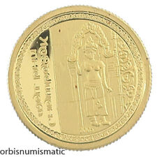 2005 LAOS 1000 KIP WAT PHU MOUNTAIN TEMPLE 1/25 OZ 999 GOLD PROOF UNC AA30