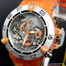 Invicta Subaqua Noma III Koi Fish Silicone Orange 50mm Chronograph Watch New