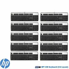 Job Lot of 10 x HP USB Keyboard UK QWERTY MODEL KU-0316