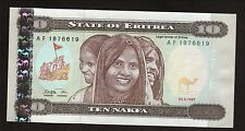 New listing Eritrea-1997 Cu-10 Nafka Banknote