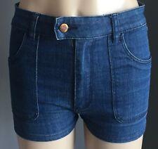 "Fab WRANGLER ""Hi Cheeky"" Blue Denim Shorts Size 10"