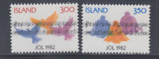 Iceland 1982 Christmas Music Sc 565-566  Cplte Mint Never Hinged