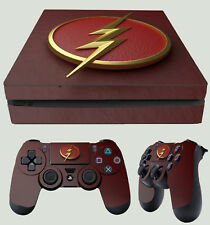 PS4 SLIM Flash Logo 01 supereroe Lighting NUOVO ADESIVO + 2 x Tappetino vinile