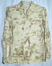 Women's Liz Claiborne Cotton Lightweight Casual  Jacket w/ Palm Tree Print SMALL